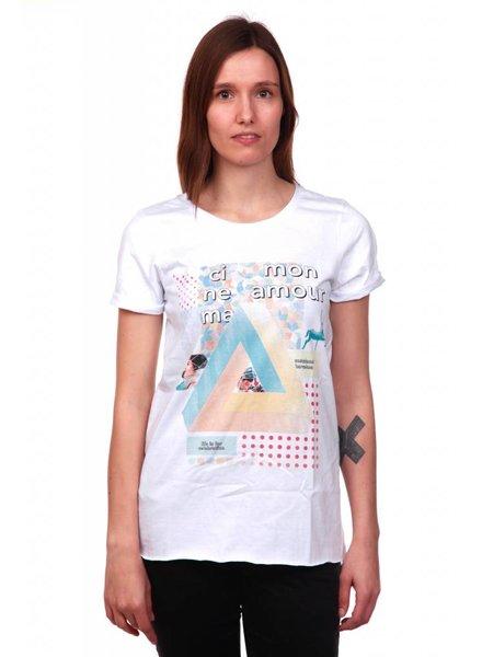 Costa lamel Costalamel I Cinema Mon Amour T-Shirt I Weiß