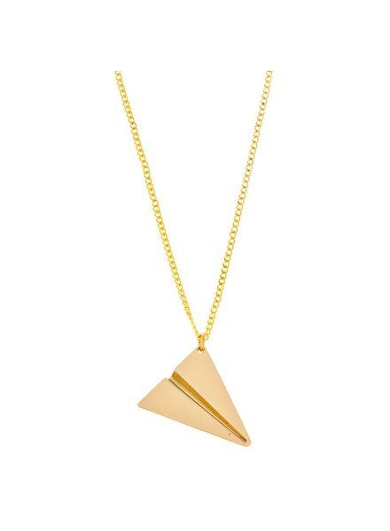 timi of sweden timi of Sweden I Paper plane necklace I Gold