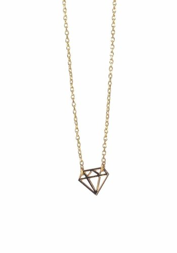 timi of Sweden I Diamond card necklace I Gold