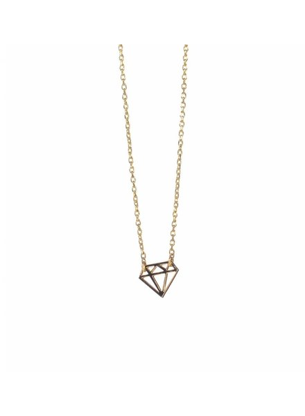timi of sweden timi of Sweden I Diamond card necklace I Gold