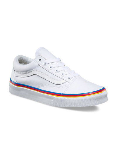 vans old skool weiss rainbow