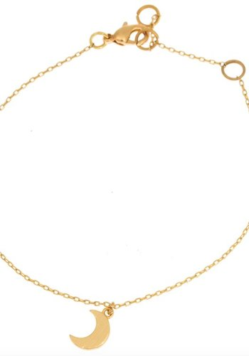 timi of Sweden I Small moon bracelet I Gold