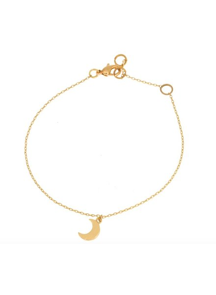 timi of sweden timi of Sweden I Small moon bracelet I Gold