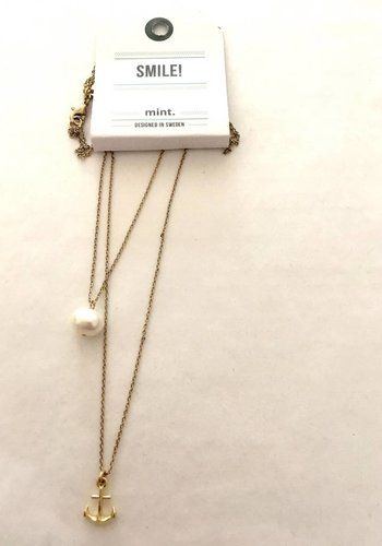 timi of Sweden I Pearl and anchor necklace I Gold
