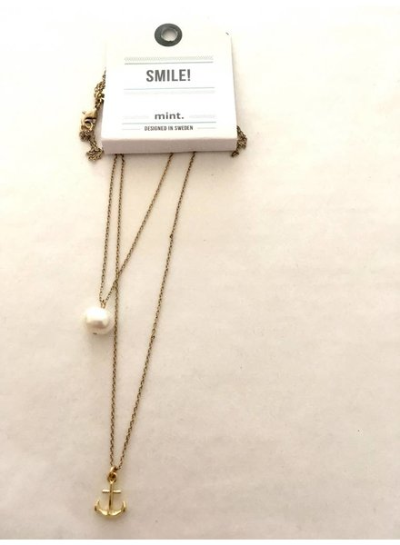 timi of sweden timi of Sweden I Pearl and anchor necklace I Gold