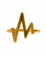 mint mint I Heartbeat ring I Gold