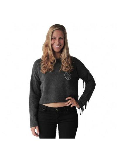 Zealous Zealous I Fringy Crop Sweatshirt I Grau