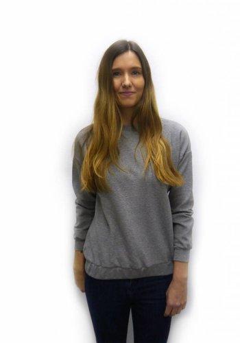 Cleptomanicx I Quilted Sweatshirt  I Grau