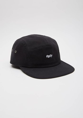 Obey I Jumble Bar 5 Panel Hat I Black