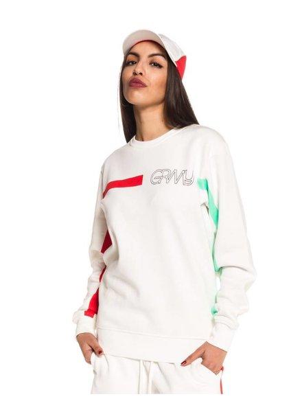 GRMY Wear Grimey  I Mangusta V8 Crewneck I White