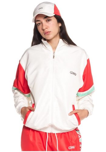 Grimey I  Mangusta V8 Track Jacket I Weiß