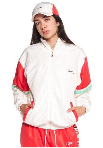 Grimey I  Mangusta V8 Track Jacket I White