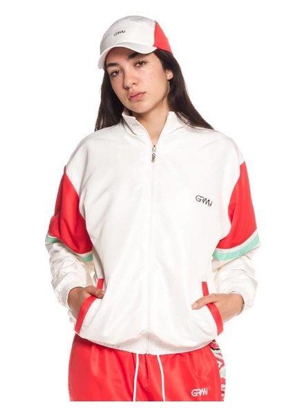 GRMY Wear Grimey I  Mangusta V8 Track Jacket I White