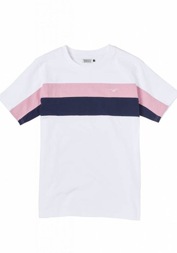 Cleptomanicx I Block T-Shirt I Weiß