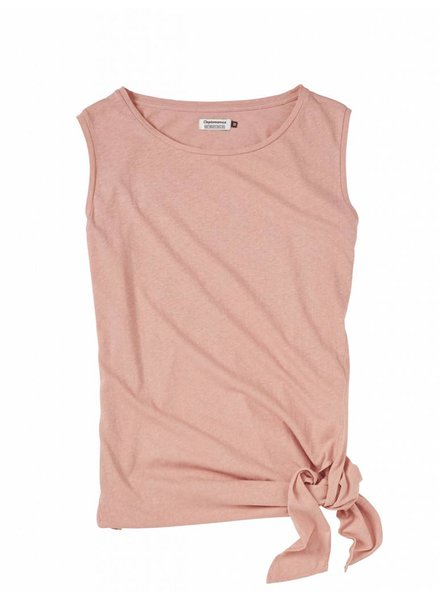 Clepto manicx Cleptomanicx I Knotted Tank Top I Coral