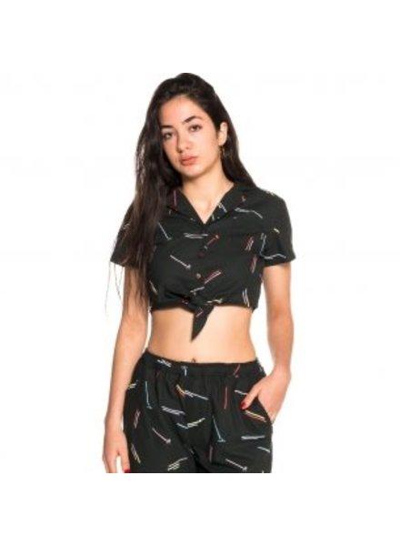 GRMY Wear Grimey I Echoes Crop Shirt I Black
