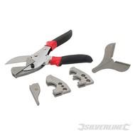 Silverline 6-delige multi-kop PVC snijder set