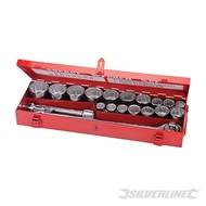 """Silverline 21-delige 3/4"""" metrische dop sleutel set"""