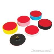 Silverline 6-delige klittenband schuim polijst set