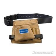 Silverline Lederen spijker en gereedschapsriem met 8 vakken'