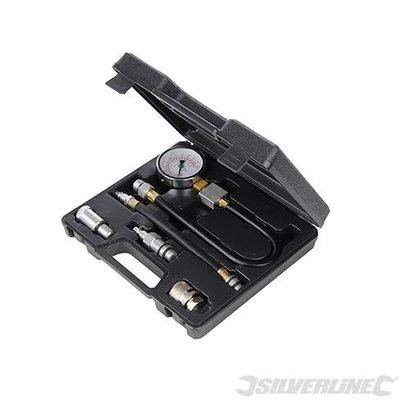 Silverline 5-delige benzine motor compressie test set