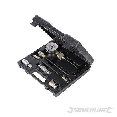 Silverline 5-delige benzine motor compressie test set