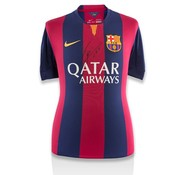 Lionel Messi Front Autographed Barcelona Home 2014-15 Jersey