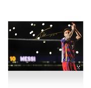 Lionel Messi Autographed Barcelona Photo - Nou Camp Legend