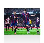 Lionel Messi Autographed Barcelona Photo - Goal vs Athletic Bilbao