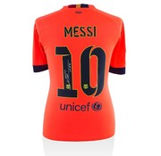 Lionel Messi Autographed Barcelona Away 2014-15 Jersey