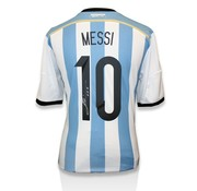 Lionel Messi Autographed Argentina Home 2014 Jersey