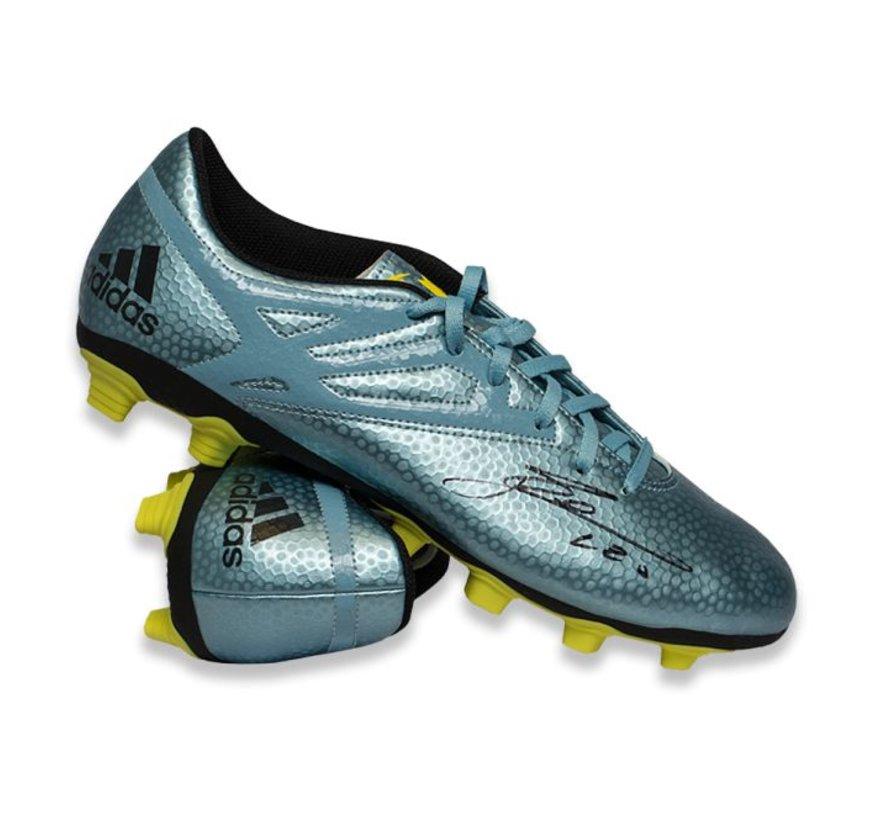 buy online de3e4 d79da Lionel Messi Autographed Adidas 15.4 Soccer Cleat