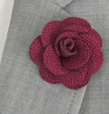 Toffster Boutonniere | Stoff | Bordeaux