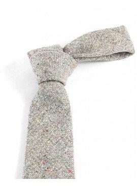 Toffster Krawatte Grau Wolle