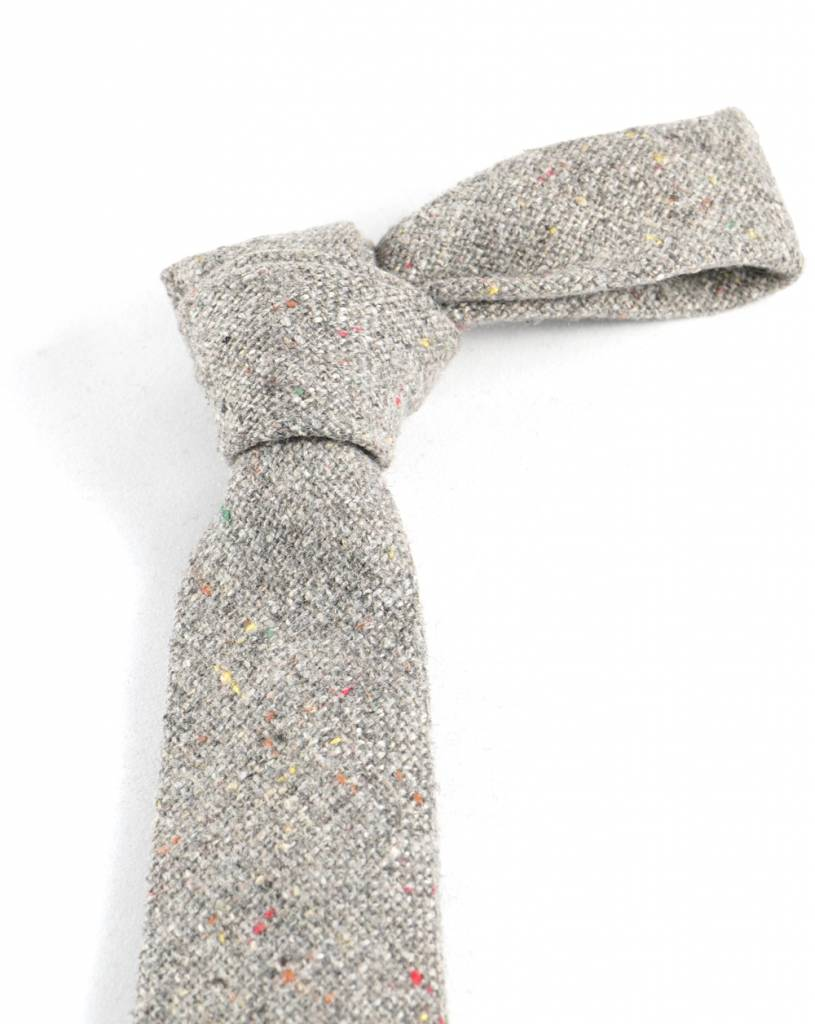 Toffster Graue schmale Krawatte aus Wolle