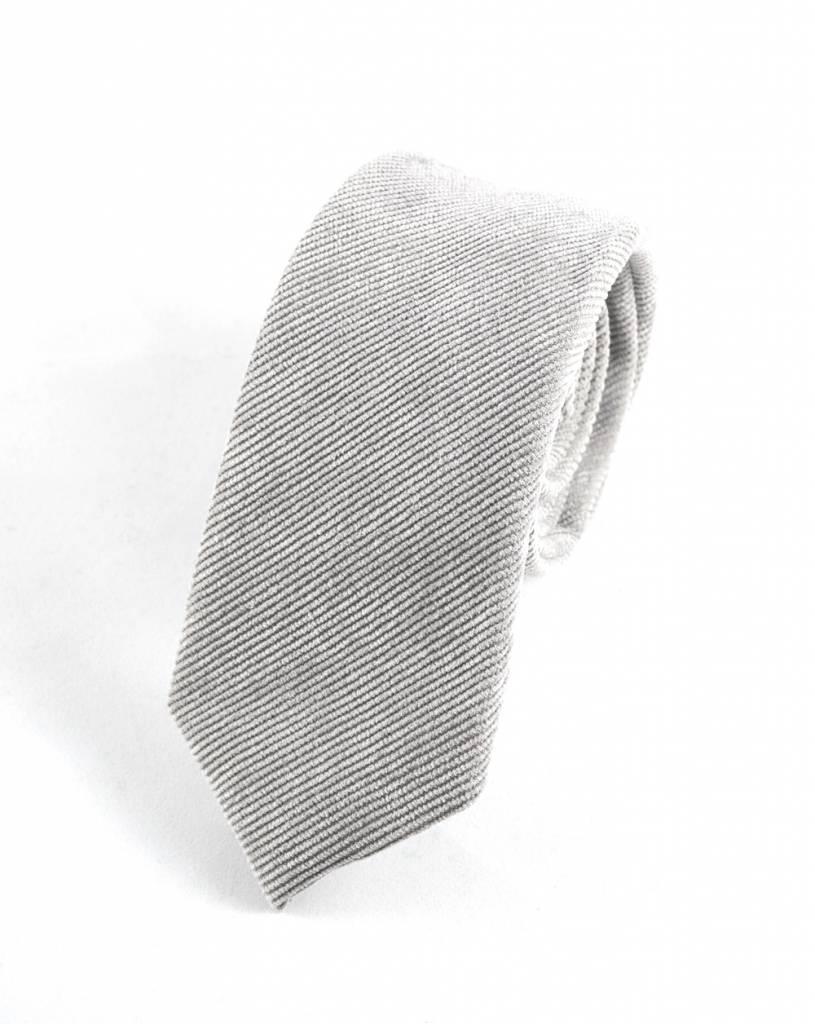 Toffster Graue schmale Krawatte aus Cord