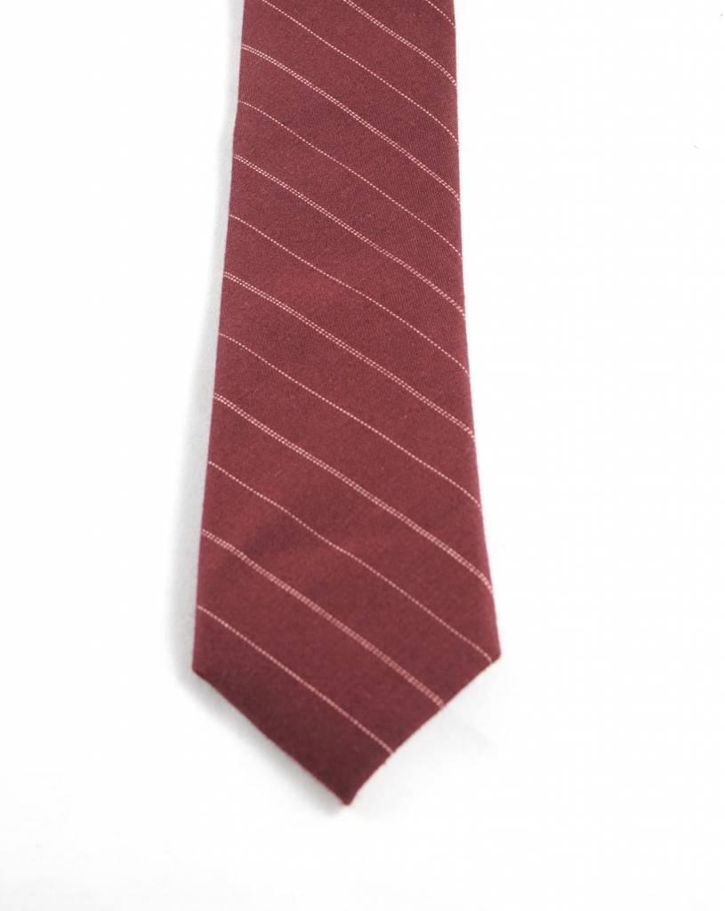 Toffster Krawatte | Baumwolle | Rot | Streifen