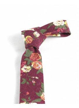 Toffster Krawatte Bordeaux Floral