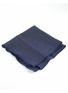 Toffster Pocket Square linen blue