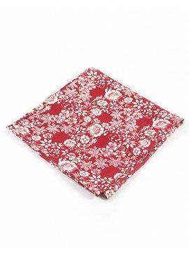Toffster Einstecktuch Rot Weiß Floral