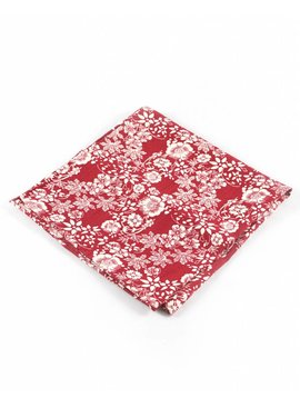Toffster Pocket Square Red Floral