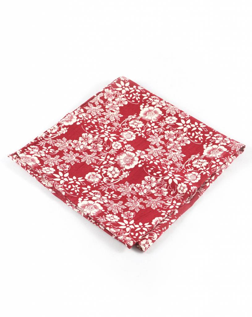 Toffster Pocket Square | Cotton | Red
