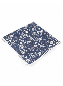 Toffster Einstecktuch Blau Floral