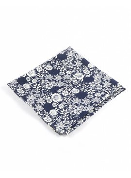 Toffster Pocket Square Black Floral