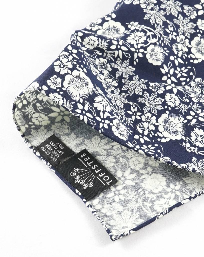 Toffster Pocket Square | Cotton | Black