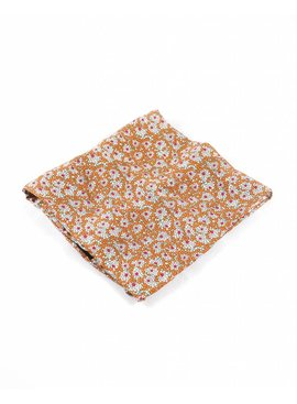 Toffster Pocket Square Brown Floral