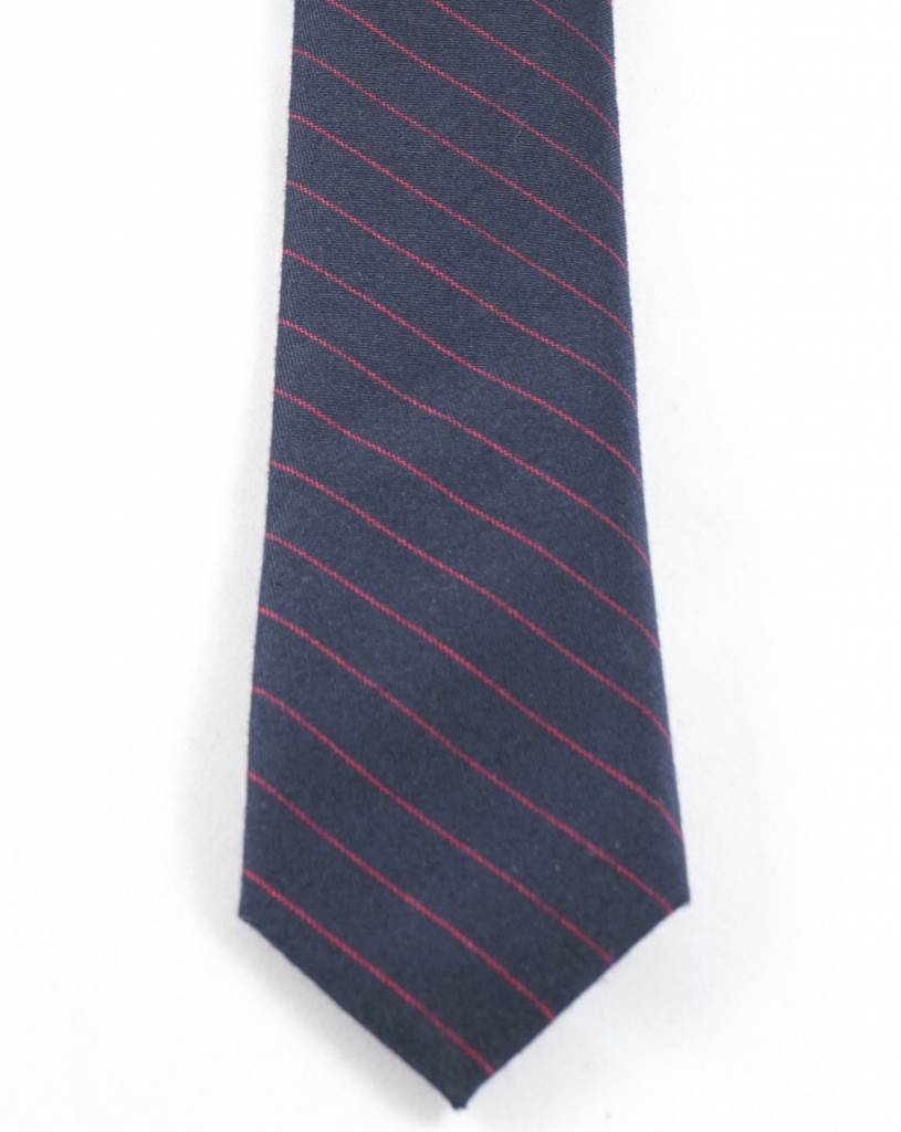 Toffster Cotton tie blue with red stripes