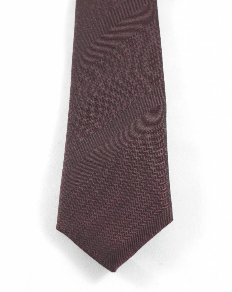 Toffster Cotton tie burgundy