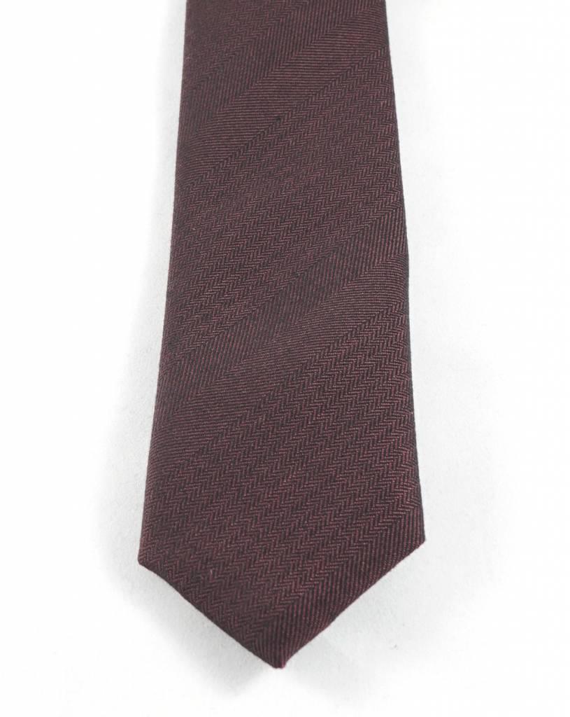 Toffster Krawatte | Baumwolle | Bordeaux
