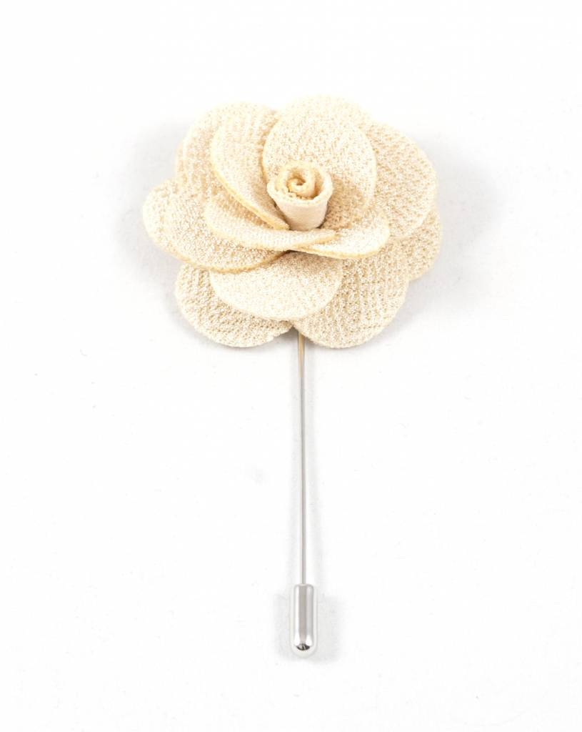 Toffster Boutonniere | Fabric | Cream